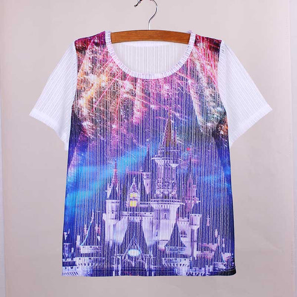 Promotion sale Character print tops tees girls short sleeve breathable fabric fashion women t shirts vogue lady summer dresses