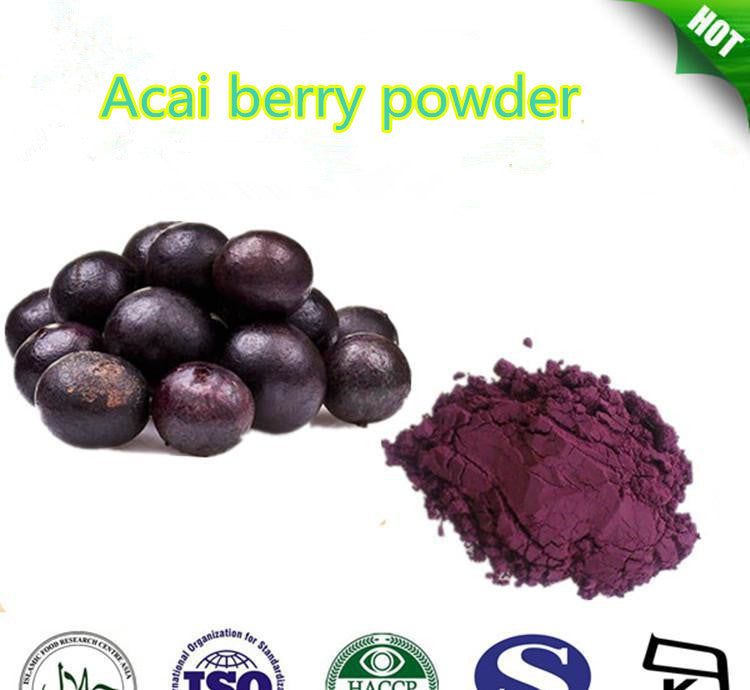 Free shipping hot sale 100% pure Acai berry powder/ Acai fruit powder 100g/package anti-aging weight lose