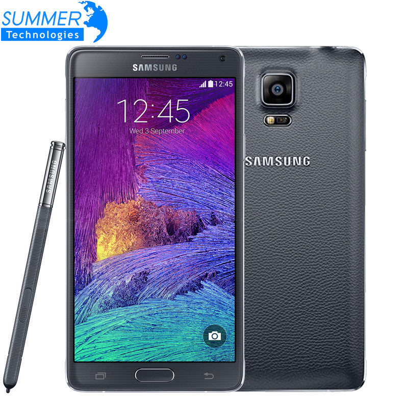 "Original Unlocked Samsung Galaxy Note 4 N9100 N910 Snapdragon 805 LTE 5.7"" 16GB ROM 3GB RAM NFC WLAN Mobile Phone"
