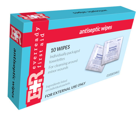 BZK Antiseptic Wipes, Kit Unit Box of 10 - emsexpress.com