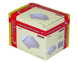 "Non-Sterile Conforming Stretch Gauze Roll - 4"" x 4.1 Yds - emsexpress.com"