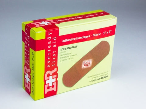 "Flexible Fabric Adhesive Bandages 1"" x 3"" - emsexpress.com"