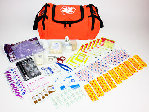 First Aid Kit, 25 Person in First Responder Bag, Orange - emsexpress.com