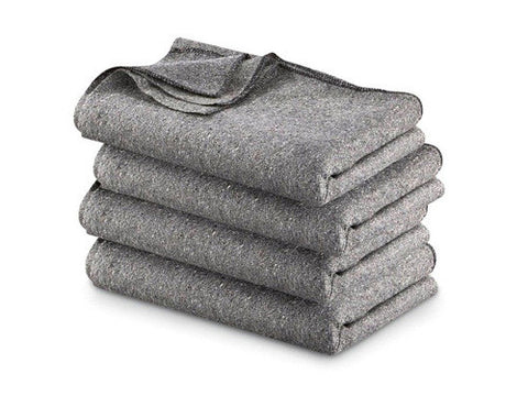 Fire Resistant Wool Military Blanket, Grey - emsexpress.com