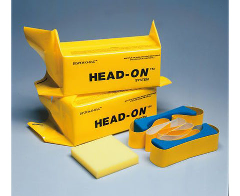 Dispos-O-Bag Head Immobilizer w/ Straps Pair - emsexpress.com