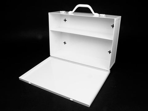 First Aid Kit Cabinet, Metal, 2 Shelf - emsexpress.com