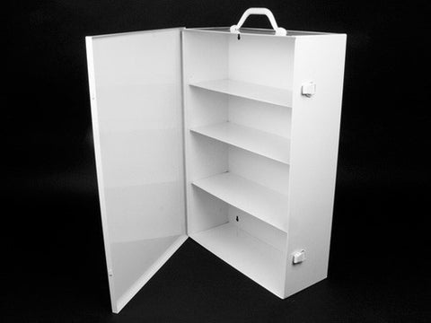 First Aid Kit Cabinet, Metal, 4 Shelf - emsexpress.com