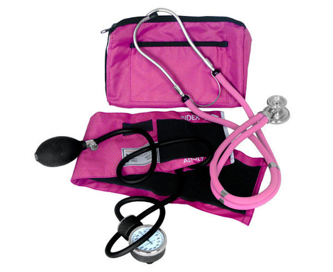 Blood Pressure and Sprague Stethoscope Kit - Pink