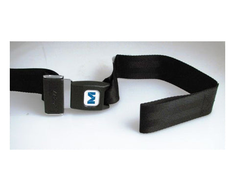 Nylon Backboard Straps 5' w/ Metal Push Button Buckle - Black