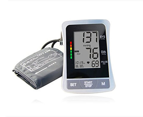 Auto Digital Upper Arm Type Blood Pressure Monitor with Color Code Indicator - emsexpress.com