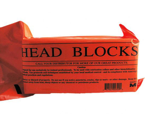 Disposable Foam Head Blocks w/ Straps Pair - emsexpress.com