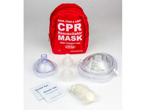 Adult & Infant CPR Mask Combo Kit w/ 2 Valves - emsexpress.com