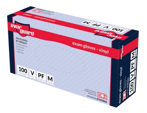EverGuard Exam Gloves, Vinyl, Box/100, Medium - emsexpress.com