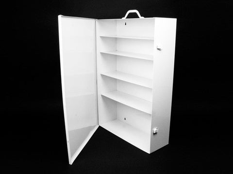 First Aid Kit Cabinet, Metal, 5 Shelf - emsexpress.com