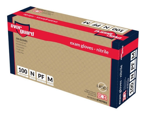 EverGuard Exam Gloves, Nitrile, Box/100, Medium - emsexpress.com