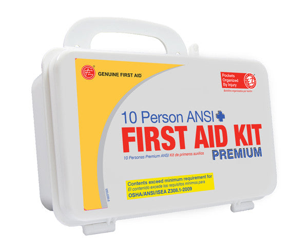 10 Person ANSI/OSHA First Aid Kit, Plastic Case PREMIUM - emsexpress.com