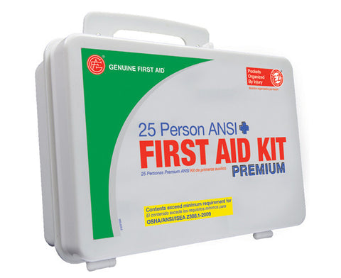 25 Person ANSI/OSHA First Aid Kit, Weather Proof Plastic Case PREMIUM - emsexpress.com