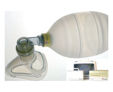 Adult Silicone Resuscitator Complete in Carton - emsexpress.com