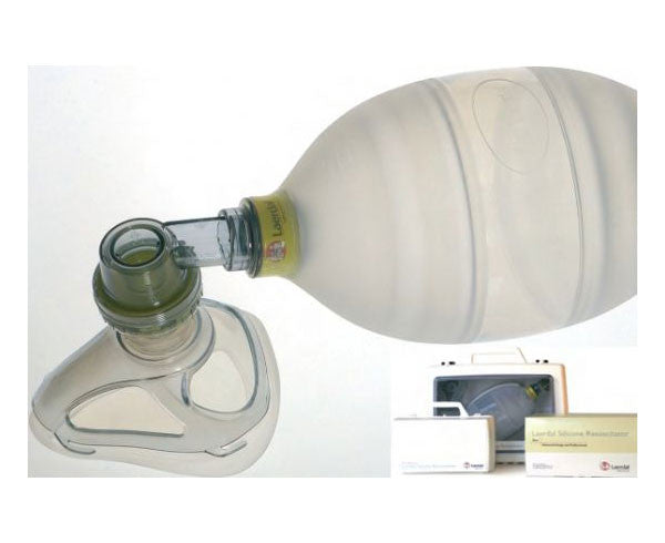 Adult Silicone Resuscitator Complete in Compact Case - emsexpress.com