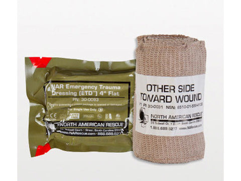 "Emergency Trauma Dressing (ETD), Flat - 4"" - emsexpress.com"