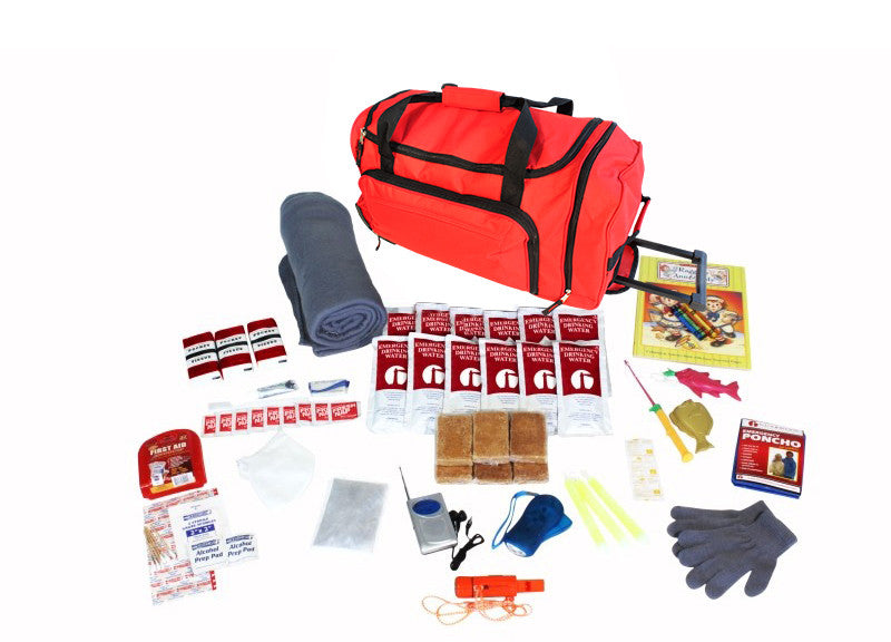 Guardian Survival Kit for Children in Red Wheel Bag