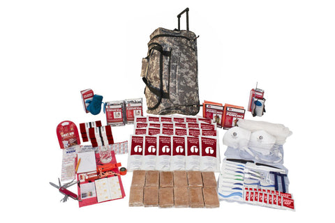 2 Person Guardian Deluxe Survival Kit in Camo Wheel Bag