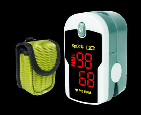 Fingertip Pulse Oximeter w/ Lanyard & Protective Case - emsexpress.com