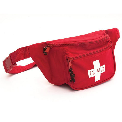 Lifeguard First Aid Fanny Pack w/ Guard Logo- RED - emsexpress.com
