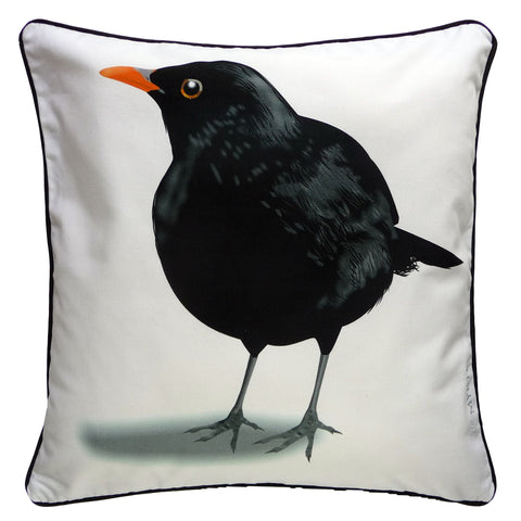 Graphic Blackbird art pillow for your room