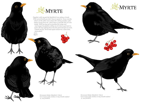 Blackbird Wallstickers
