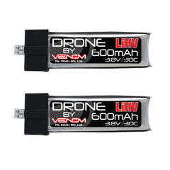 Venom 30C 1S 600mAh 3.8V LiHV Battery with mCPX / JST-PH 2.0 Connector x2 Pack