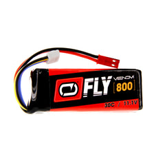 Venom Fly 30C 3S 800mAh 11.1V LiPo Battery with JST Plug for RC Planes and Helis