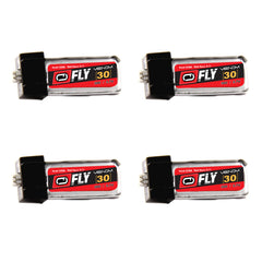 Venom Fly 30C 1S 30mAh 3.7V LiPo Battery with E-flite MCX Plug x4 Packs