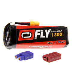 Venom Fly 50C 6S 1300mAh 22.2V LiPo Battery with UNI 2.0 Plug