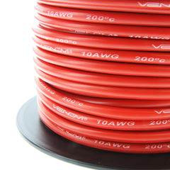 Venom 10AWG Soft Silicone High Strand Count Wire - Red - 30M / 100ft Roll