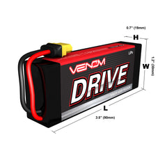 Venom 35C 3S 1300mAh 11.1V LiPo Battery with Universal Plug