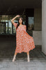 nude floral nursing friendly wrap dress