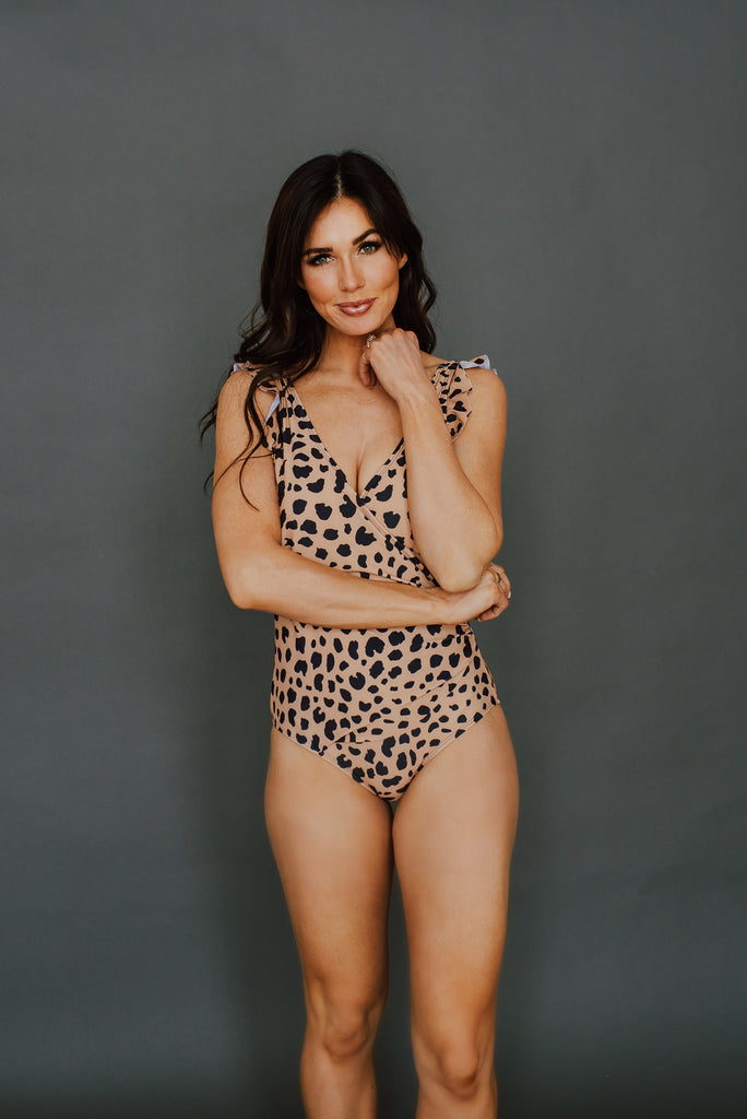 Take Me Away Swimsuit in Cheetah