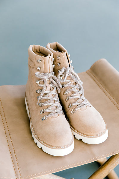 Arlene Light Khaki Boots