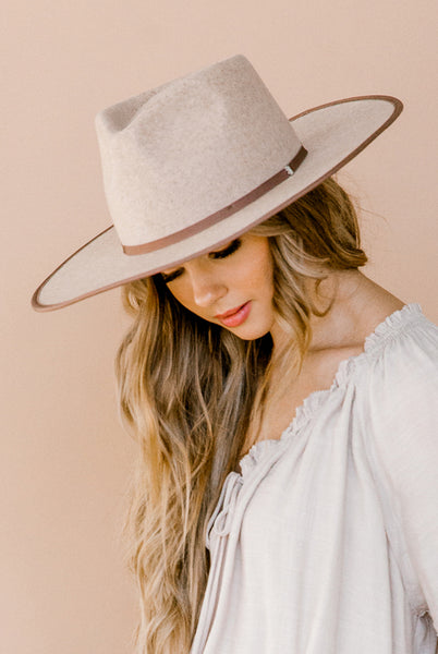 Billie Rancher Hat in Oatmeal