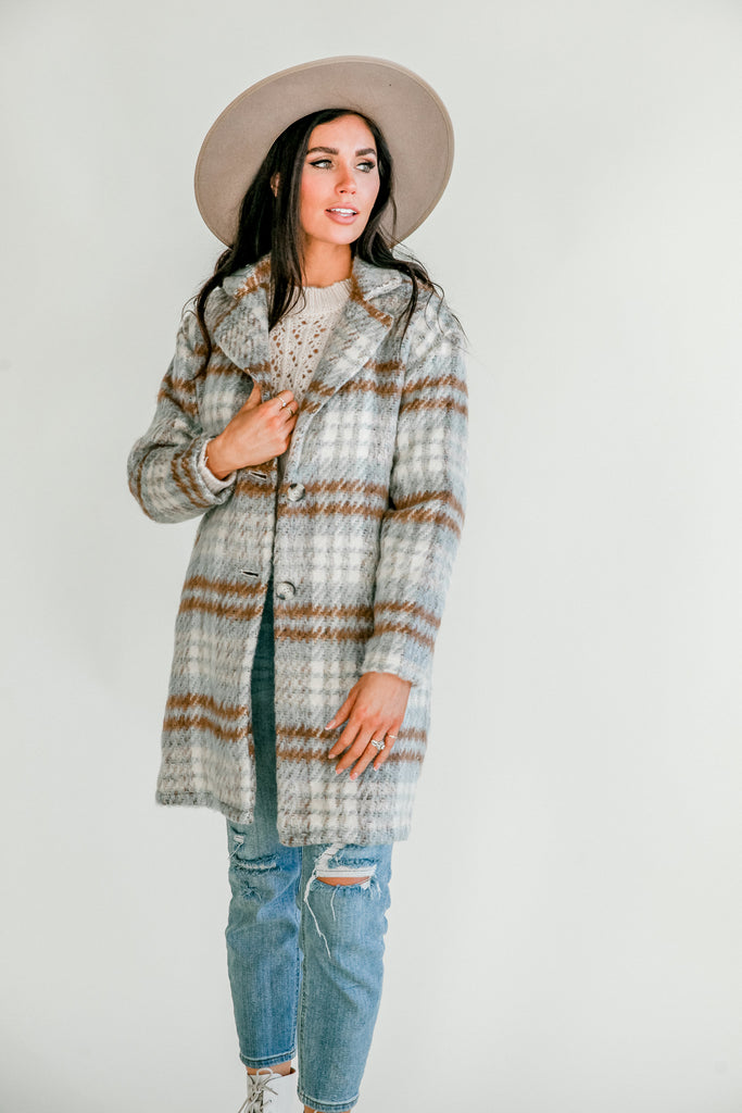 Plaid To Meet You Coat