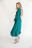 Mia Embroidered Dress in Green