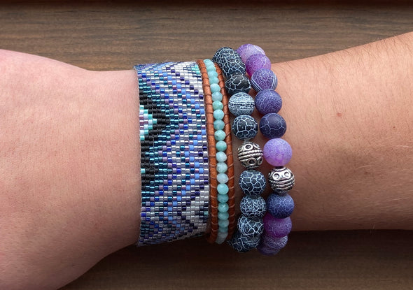Woven Bracelet - Mountains - Winter