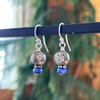 Delicate Sterling Silver Earring - Pyrite and Lapis