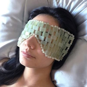 Jade & Rose Quartz Eye Mask