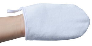Facial Spa Mitts (per pair)- Grey and White