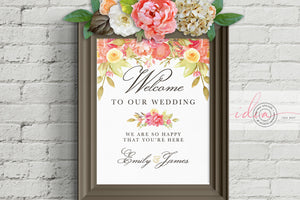IDEA #007 : Free Watercolor Wedding Poster