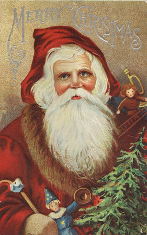 Free Graphic Friday - Vintage Santa Postcard