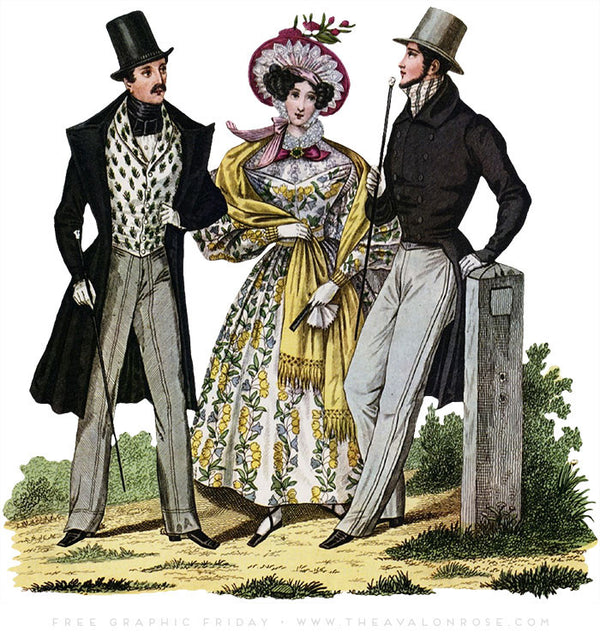 Free Graphic Friday - Antique Fashion Plate