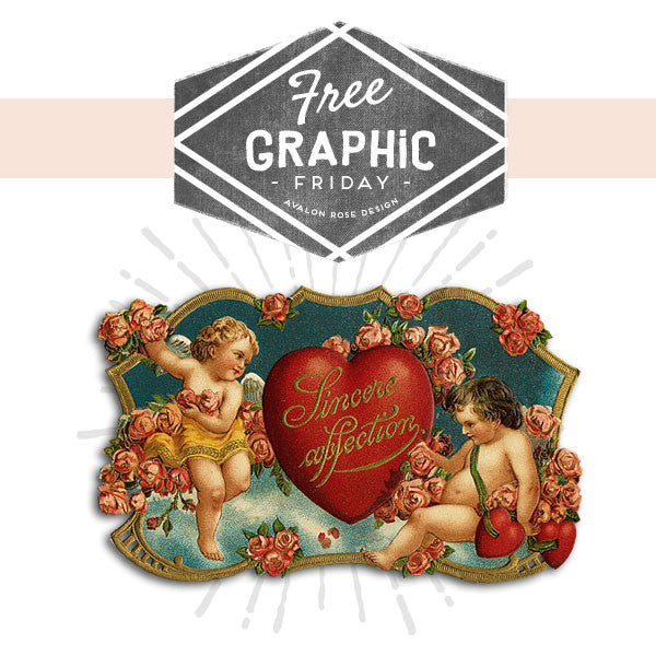 Free Graphic Friday - Vintage Valentine Cherubs